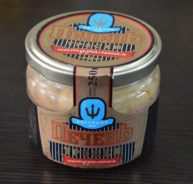 Печень трески натуральная торговой марки «Посейдон 2000»