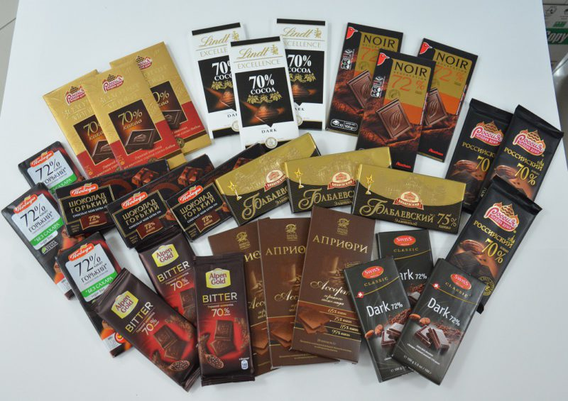Дегустационные образцы шоколада