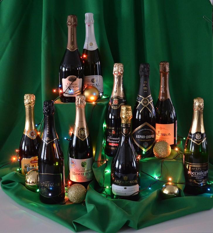 Дегустационные образцы вина игристого