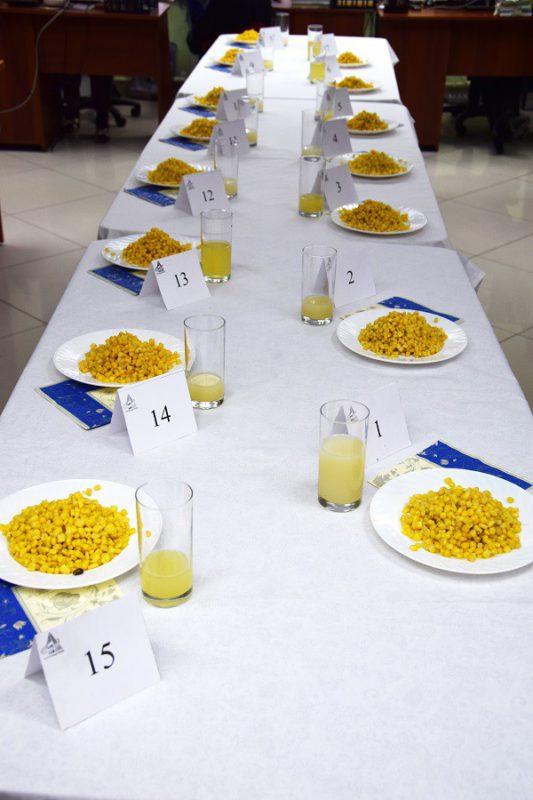Ассортимент кукурузы сахарной, представленный к дегустации
